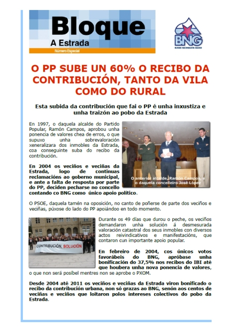 Boletín contra a suba do IBI