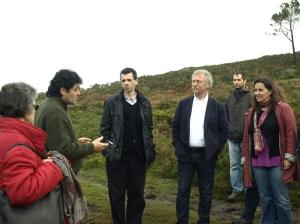 José Bové e Ana Miranda visitan a cooperativa Monte Cabalar